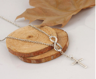 Mini style韓國極致簡約無限大8十字架短款項鏈頸鏈鎖骨鍊特殊造型項鏈