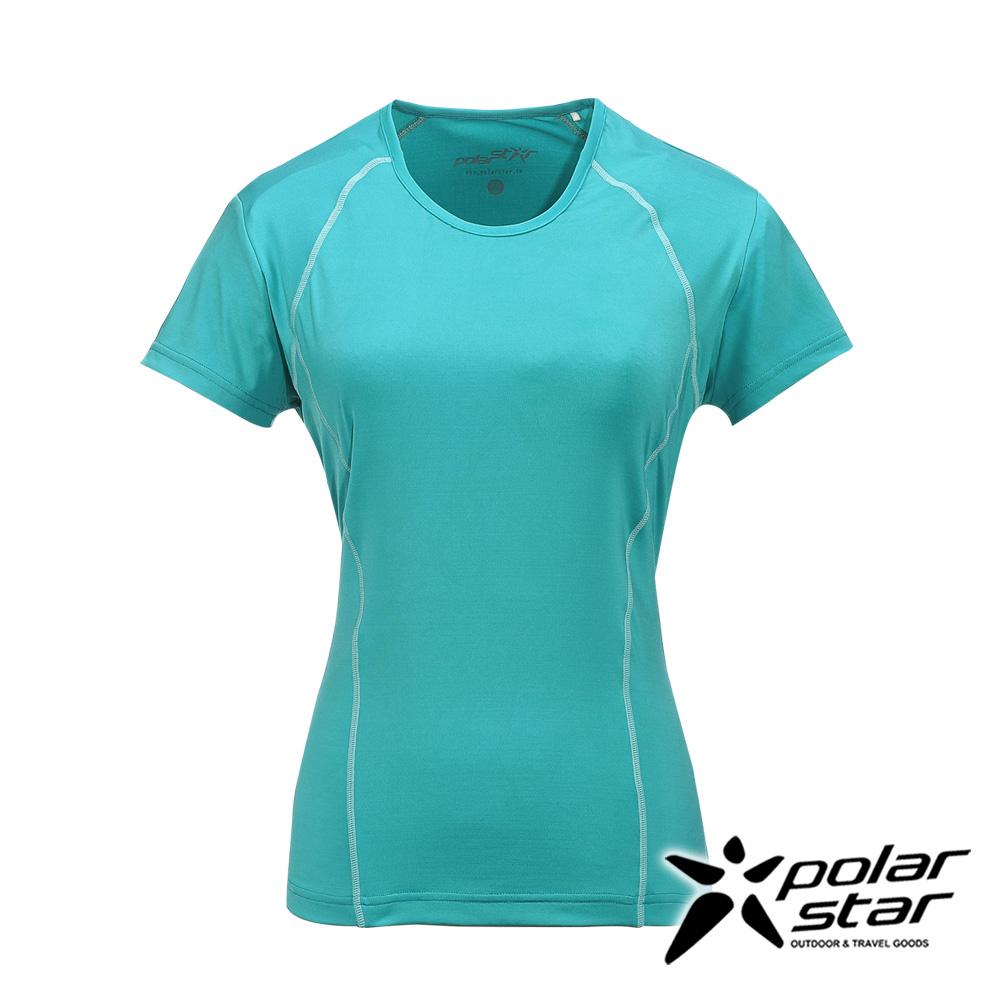 PolarStar女排汗快乾T恤水藍綠P17130吸濕排汗透氣T-shirt短袖運動服瑜珈休閒服短袖透氣運動服