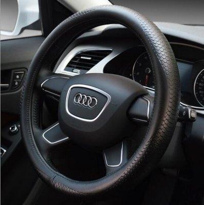 汽車真皮方向盤套適用BMW賓士迪歐等車型潮咖範兒
