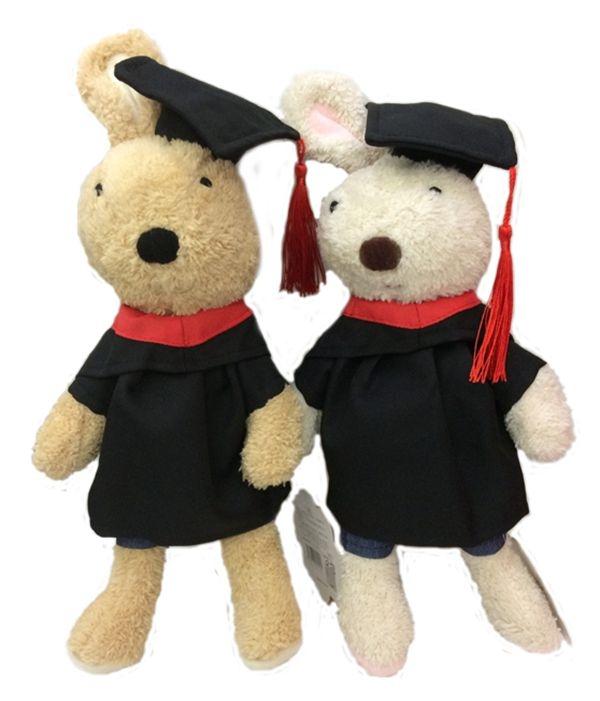 娃娃屋樂園~正版法國兔砂糖兔-2017畢業版30CM每隻300元畢業熊學士熊畢業拍照花束