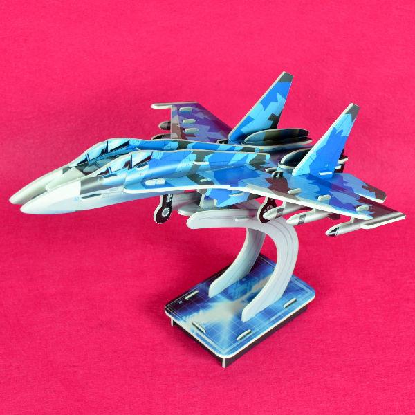 佳廷家庭 親子DIY紙模型立體勞作3D立體拼圖專賣店 飛機坦克航艦 J-11噴射戰鬥機 ACME世一文化