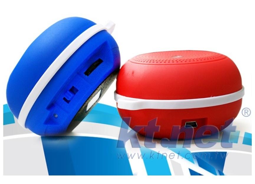 新竹【超人3C】KTNET SB2 戶外藍芽插卡喇叭 附登山掛環 重低音音效 TF(MICRO SD)記憶插槽