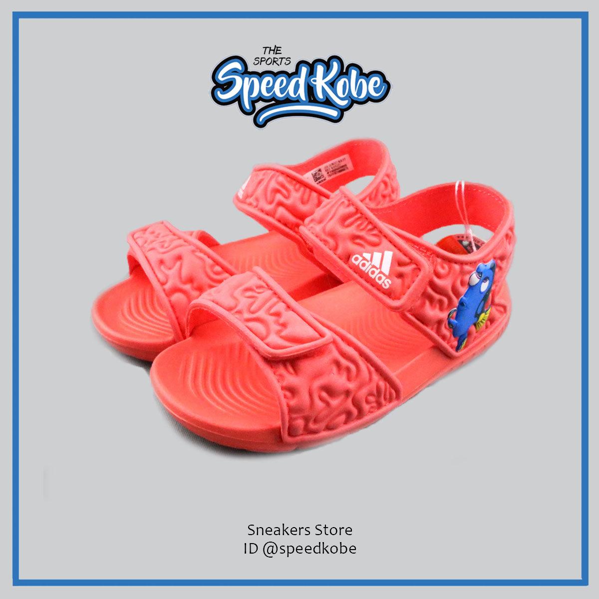 ADIDAS Disney Nemo小童迪士尼多莉橘色黏帶涼鞋BA9327 speedkobe