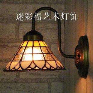 設計師美術精品館簡約現代蒂凡尼壁燈金色陽光壁燈亮玻璃鏡前燈地中海燈床頭燈
