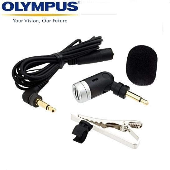 我愛買Olympus降噪麥克風ME52W長1公尺有線領帶夾式麥克風領夾式麥克風領夾麥克風長去噪防噪麥克風