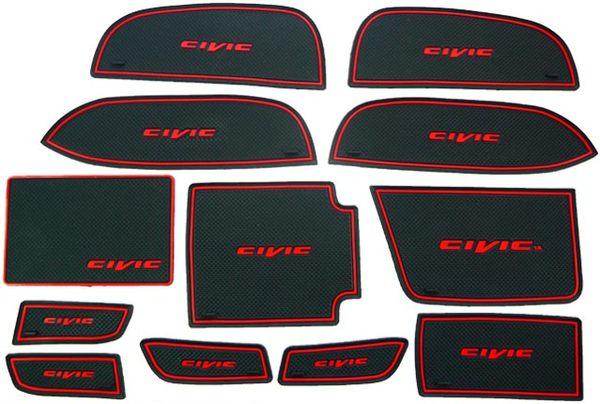 HONDA九代CIVIC喜美K14用12片止滑防水製震杯墊置物墊門邊墊止滑墊防水墊