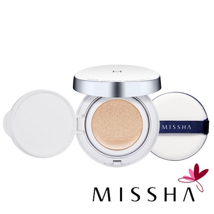 韓國MISSHA魔法遮瑕氣墊粉餅15g MISSHA M Magic Cushion銀盒氣墊粉餅