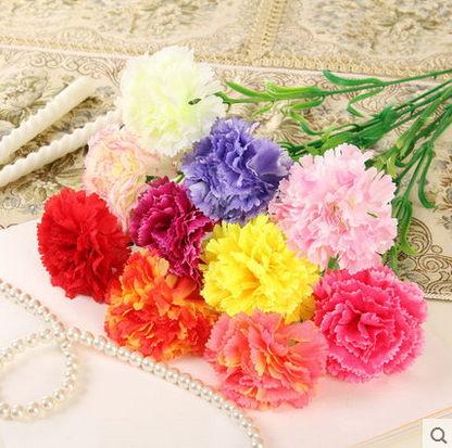 F0675 仿真花 田園康乃馨假花裝飾花絹花 客廳餐桌花束 單支花特價(單支)