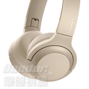 曜德新上市送收納袋免運SONY WH-H800淺金迷你版觸控無線藍芽NFC耳罩式耳機