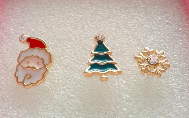 韓版  現貨夾式耳環聖誕節日系列無耳洞耳夾-單支計-雪花/聖誕老人/聖誕樹。【BeautyBox】X1600098