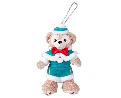 尼德斯Nydus*東京迪士尼海洋達菲熊Duffy聖誕節限定吊飾站姿約15cm-現貨