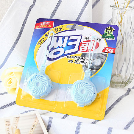韓國 小鬼怪 洗碗槽滅菌除臭劑 10g*2入 洗碗 廚房用品 清潔 消臭 清潔劑 除臭劑 芳香劑