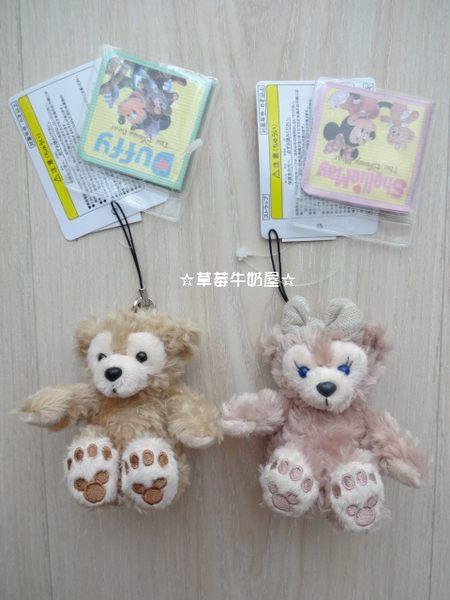 草莓牛奶屋日本進口東京迪士尼Disney Sea達菲熊Duffy&ShellieMay絨毛手機吊飾