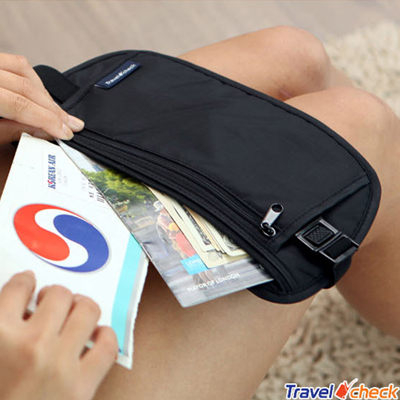 travel check 休閒旅行收納包貼身腰包(2色任選)【AE16048】