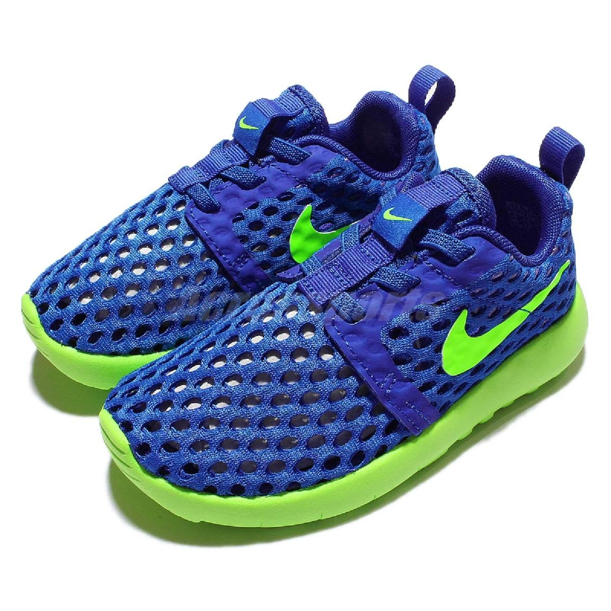 Nike休閒慢跑鞋Roshe One Flight Weight TDV藍綠運動鞋小朋友小童鞋PUMP306 819691-404