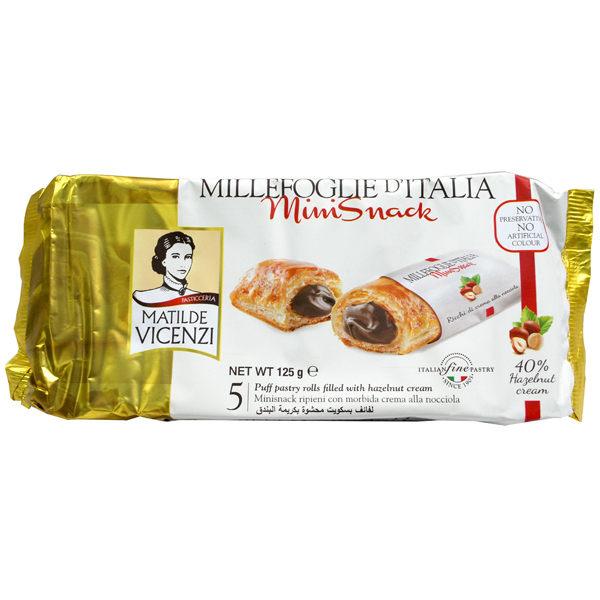 義大利維西尼Mini千層酥榛果奶油夾心125g賞味期限:2017.12.14