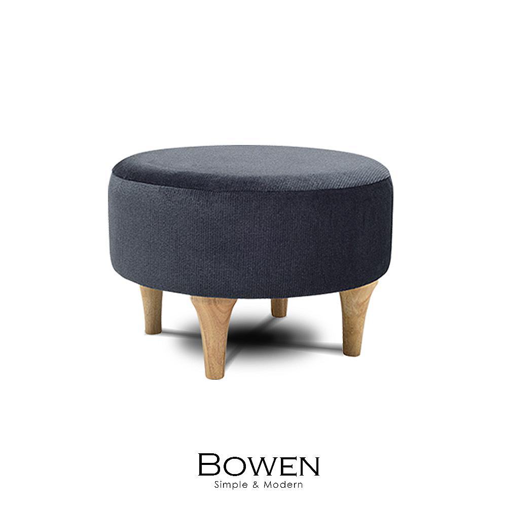 矮凳 腳凳 沙發椅 Bowen 圓型舒適大矮凳(LS/CAA-001)【obis】時尚家居
