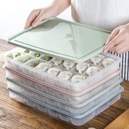 ◄ 生活家精品 ►【Q317】創意大格餃子保鮮盒 壽司 冰塊 冷凍 收納 新鮮 食物 托盤 冰箱 水餃