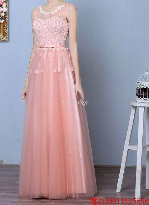 (45 Design)  7天到貨 長禮服伴娘禮服 結婚晚禮服姐妹裙長版禮服 韓式 洋裝 新娘敬酒服 連身裙11