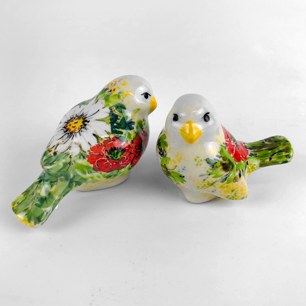 【手工波蘭陶 CA 限量百年紀念款】擺飾-鳥 D87-091-L79