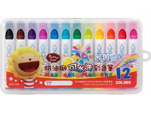 享亮商城BLW-12 B奶油獅可水洗12色彩色筆雄獅