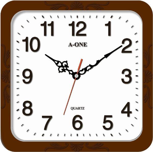 方形立體字掃描掛鐘