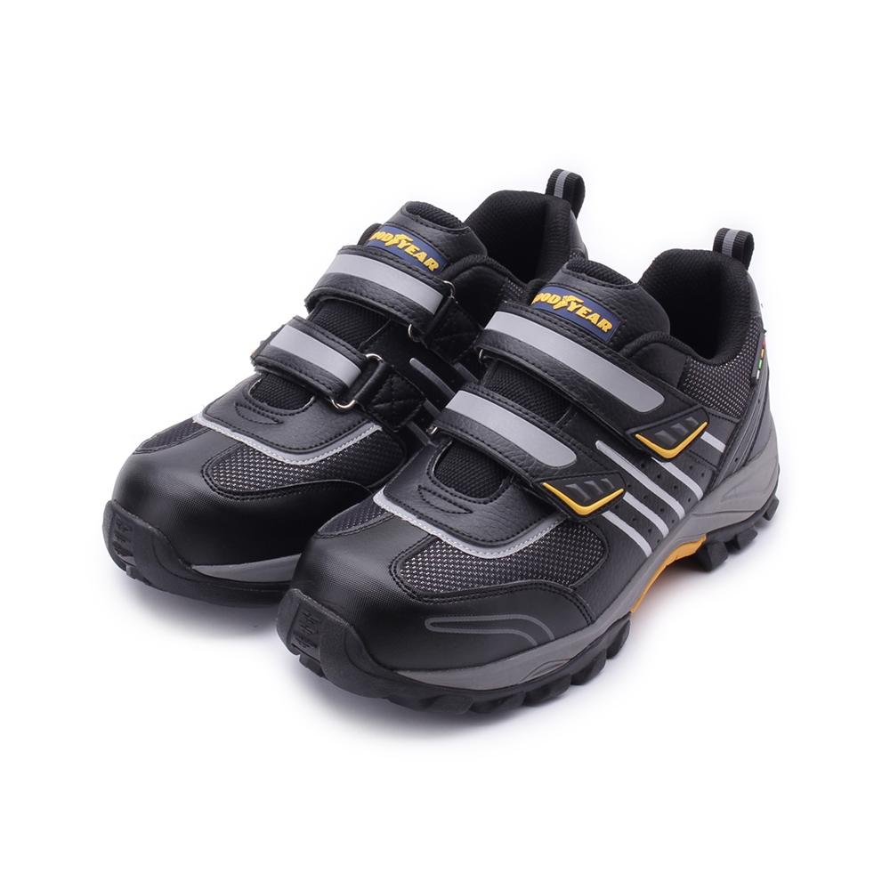 GOODYEAR 雷霆雙魔鬼氈鋼頭鞋 黑 GAMX83910 男鞋 鞋全家福