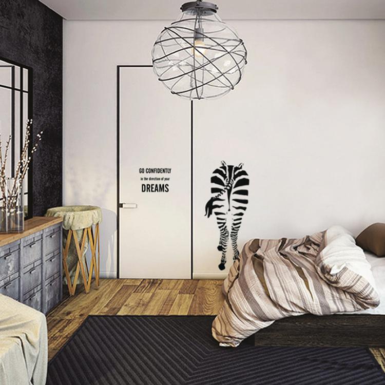 時尚壁貼【WD-016 斑馬先生】藝術壁貼 櫥窗設計 無毒無痕 不傷牆面 創意壁貼 英國設計 現貨供應
