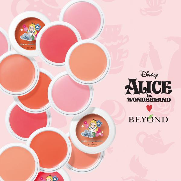 韓國BEYOND x ALICE愛麗絲午茶奶油霜感腮紅膏5g櫻桃飾品21717