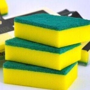 黃綠色高密度洗碗海綿 / 菜瓜布(1入) 黃綠海棉◎花町愛漂亮◎MY