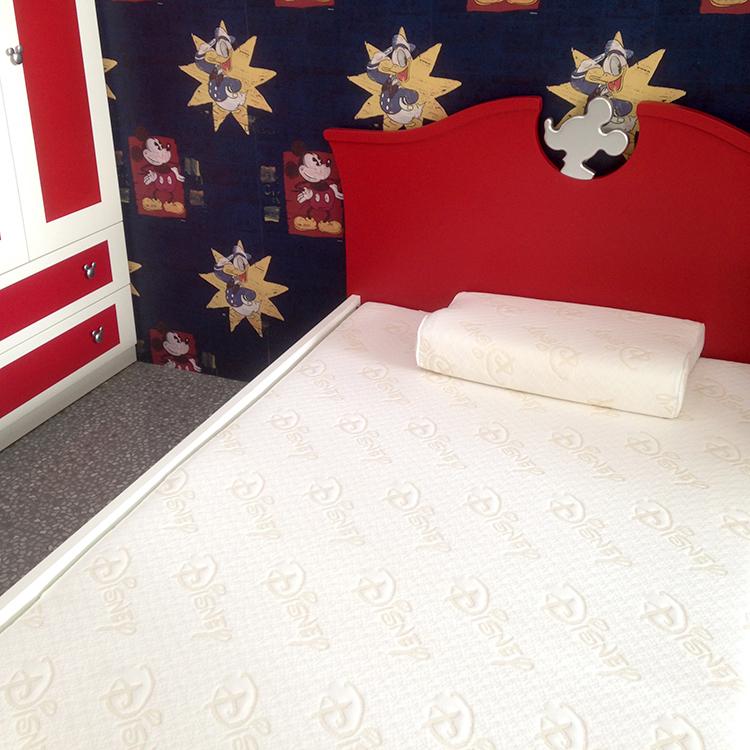 首雅傢俬迪士尼冬夏兩用床墊套床墊保護套床罩單人加大床墊套3尺半-白色LOGO款