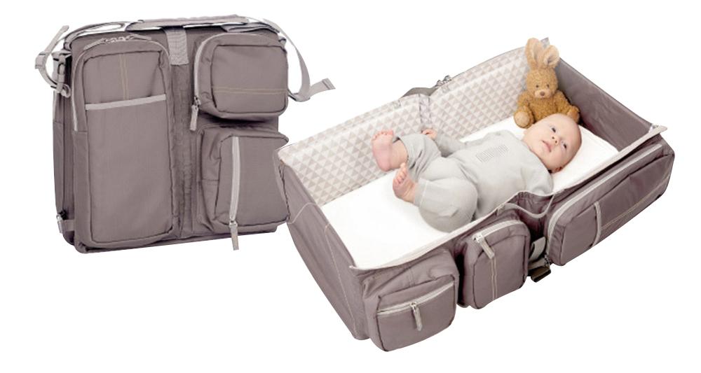 比利時Doomoo Basics Baby Travel Bag輕量型寶寶行動眠床-沙褐棕