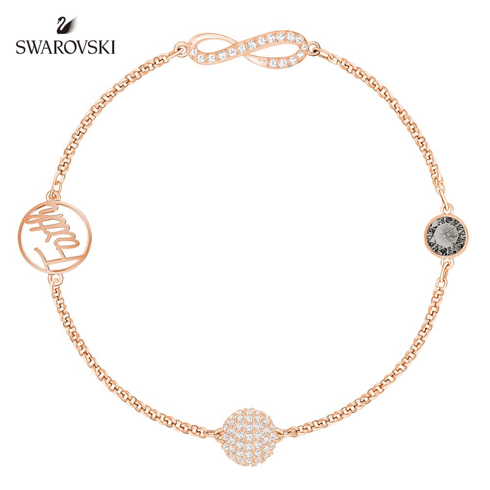 施華洛世奇 典雅迷人鍍玫瑰金色 Remix Collection Infinity Symbol 手鍊