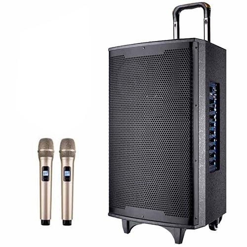 大聲公尊鼎型專業無線式多功能行動音箱/重低音喇叭/無線麥克風/教學擴音器
