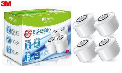 3M創意生活3M WP-3000及SP-3000極淨長效濾水壺濾心組4入