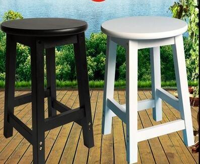 歐式實木小餐凳宜家圓凳椅子餐椅簡約木凳家用板凳復古高凳子