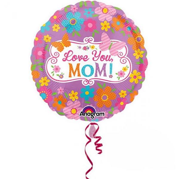 18吋鋁箔氣球(不含氣)-我愛媽咪