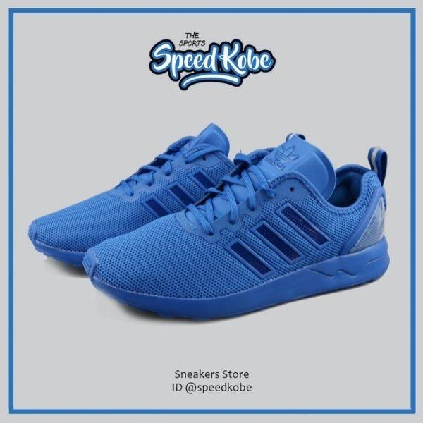 ADIDAS復古慢跑鞋ZX Flux ADV寶藍藍魂輕量男S79012 SP