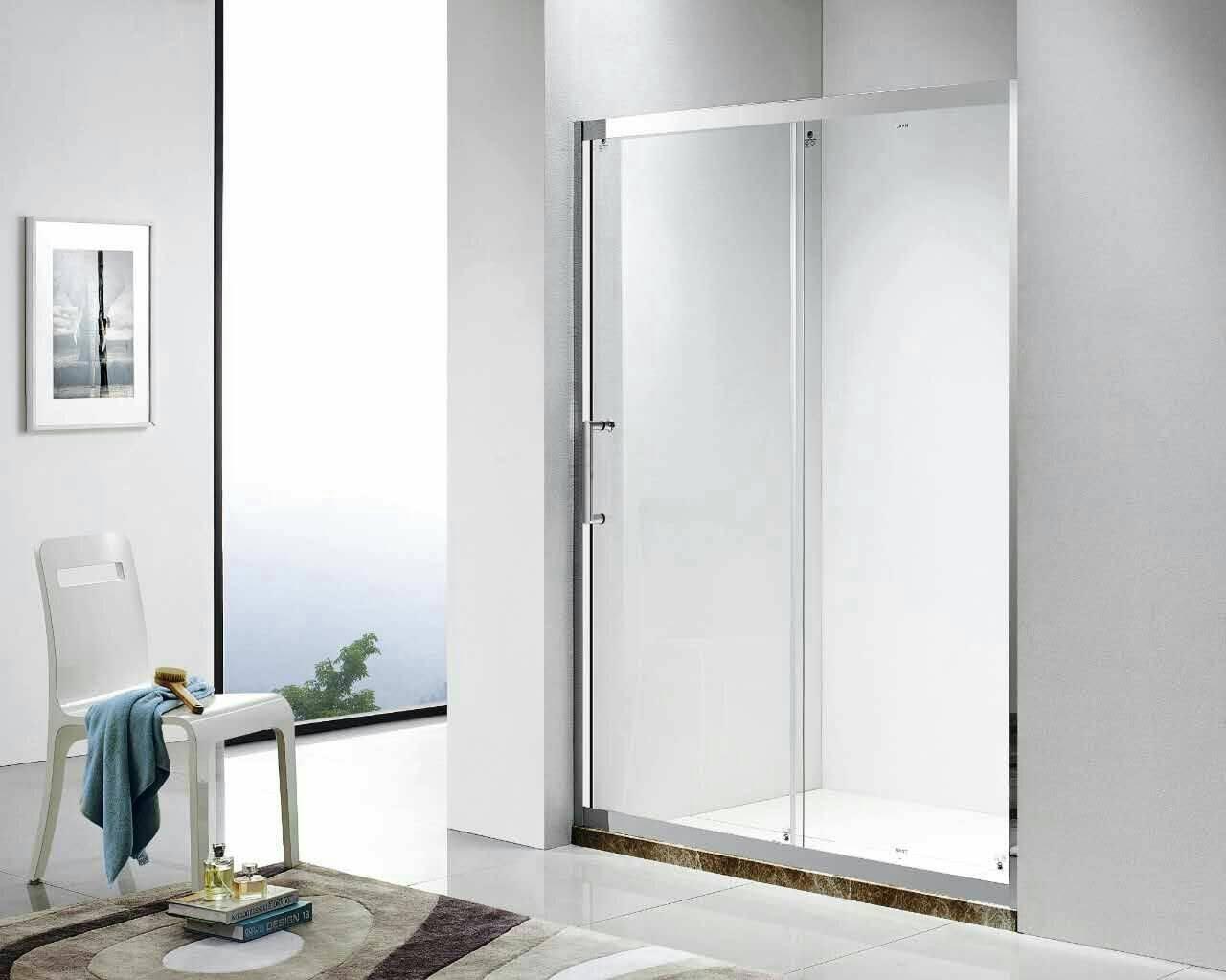 麗室衛浴單門活動橫拉式304鏡面不銹鋼拉門150*190CM以內