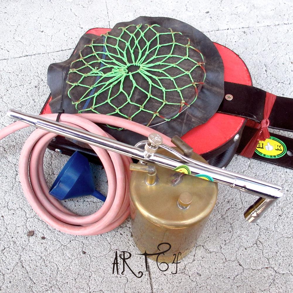金工焊接鎔金工具-真皮鼓風爐焊接火槍套裝組贈送焊夾