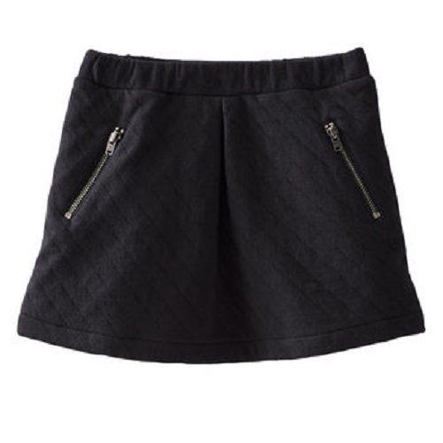 OshKosh裙子黑色格紋拉鍊口袋短裙