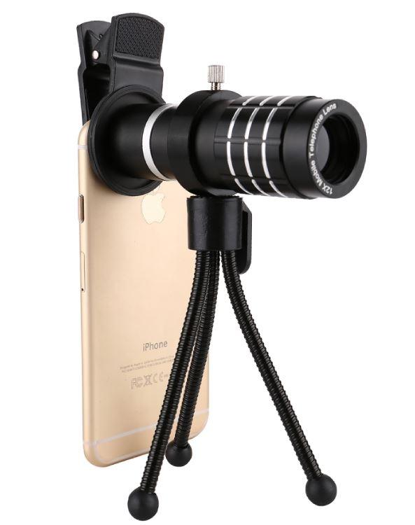 3699shop 12倍手機望遠鏡手機夾式鏡頭旅遊必備自拍神器隨機出貨