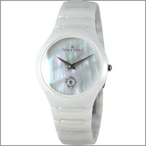 【萬年鐘錶】Max 精密白貝陶瓷錶 MAS-5070-W