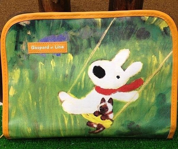 發現好貨日本原裝Gaspard et Lisa黑白狗收納袋文件袋資料袋