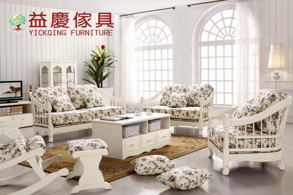 【大熊傢俱】A06A 玫瑰系列 玫瑰鄉村風沙發 布沙發 實木框 布藝沙發 韓式田園花卉布沙發 1 2 3沙發