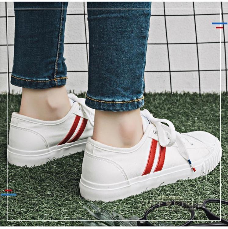 帆布鞋鞋子女夏透氣帆布鞋街拍小白鞋女百搭韓版丑萌鞋港風女鞋