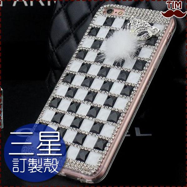 三星S8 S8 Plus A7 2017 J7 Prime S7 Edge黑白狐狸滿鑽水鑽殼保護殼硬殼手機殼訂做殼