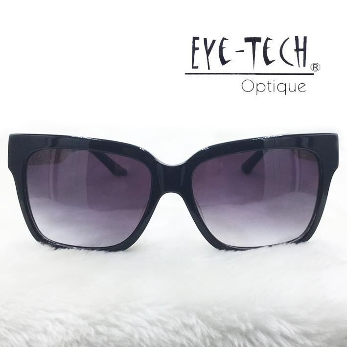 橘子樹眼鏡Eye Tech方型鏤空花紋太陽眼鏡獨家限量ET3268黑色抗UV太陽眼鏡日本製