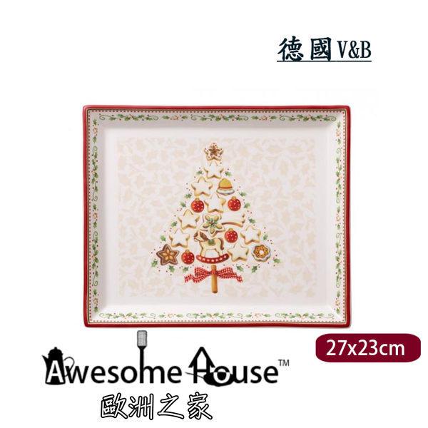 德國V&B聖誕樹長方形盤盤子14-8612-2856