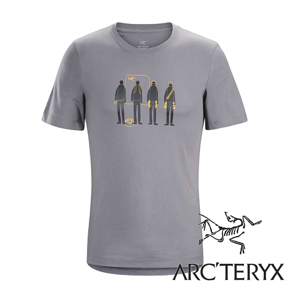 Arc'teryx加拿大始祖鳥男LOGO短袖T恤小牛灰L06823吸濕排汗透氣T-shirt短袖運動衫排汗衫